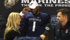 Dwayne Lawson commits to VT at the Semper Fi game.